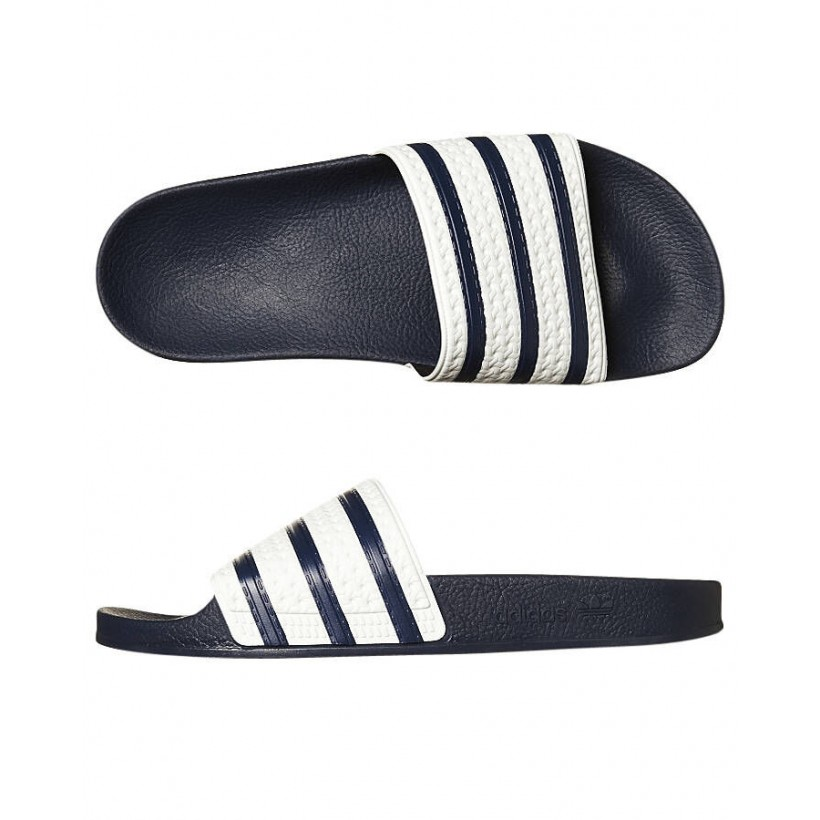 Adilette Slip On Adiblue White