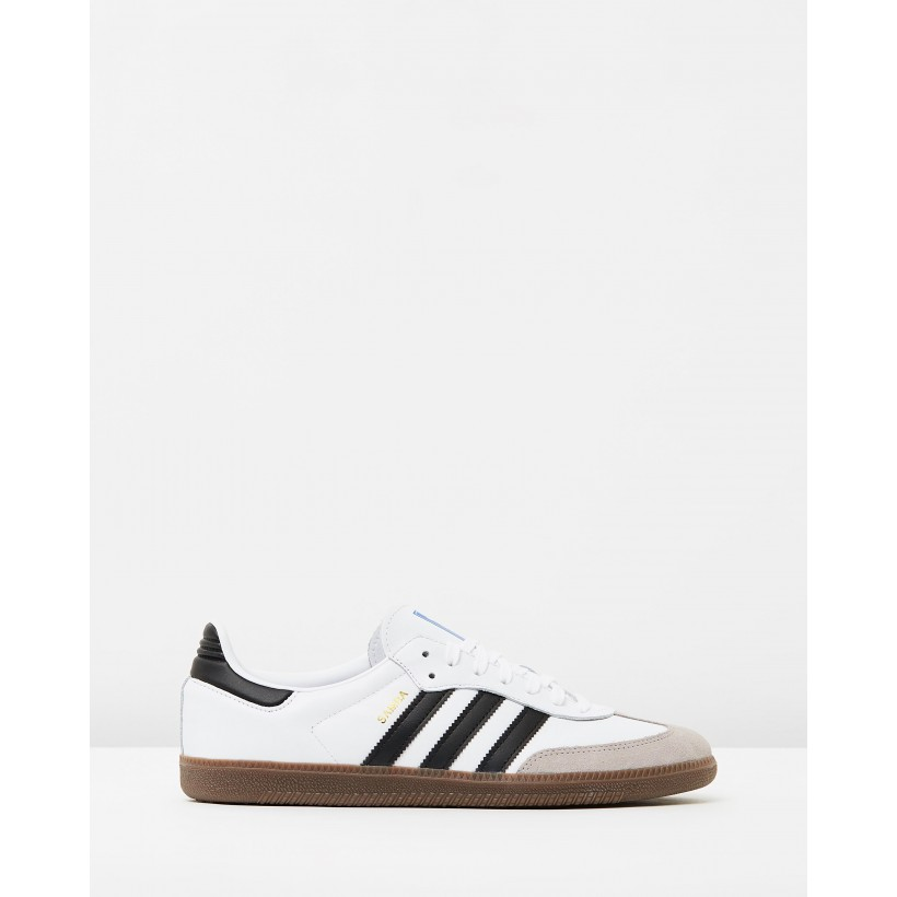 Samba OG Footwear White, Core Black & Clear Granite by Adidas Originals