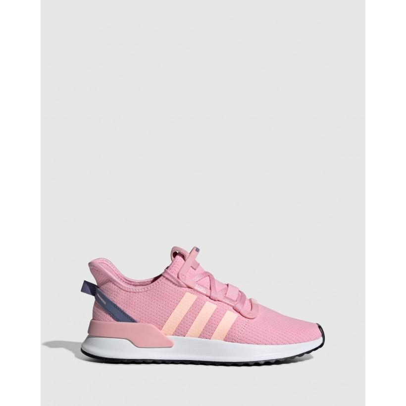 U_Path Run - Women's True Pink, Clear Orange & Core Black by Adidas Originals