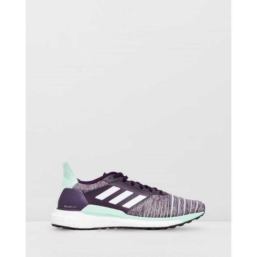 Solar Glide - Women's Legend Purple, Footwear White & Clear Mint by Adidas Performance