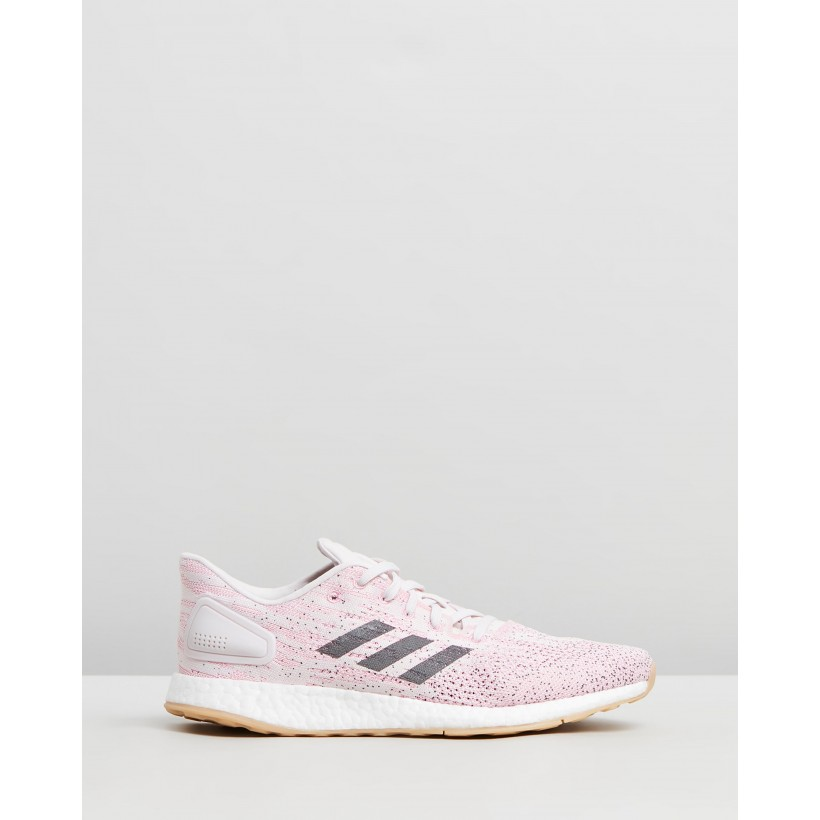 PureBOOST DPR - Women's True Pink, Carbon & Orchid Tint by Adidas Performance