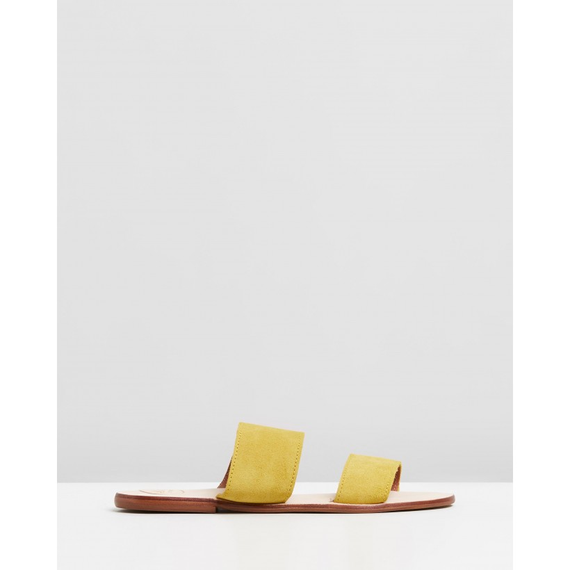Alice Mustard by Alohas Sandals