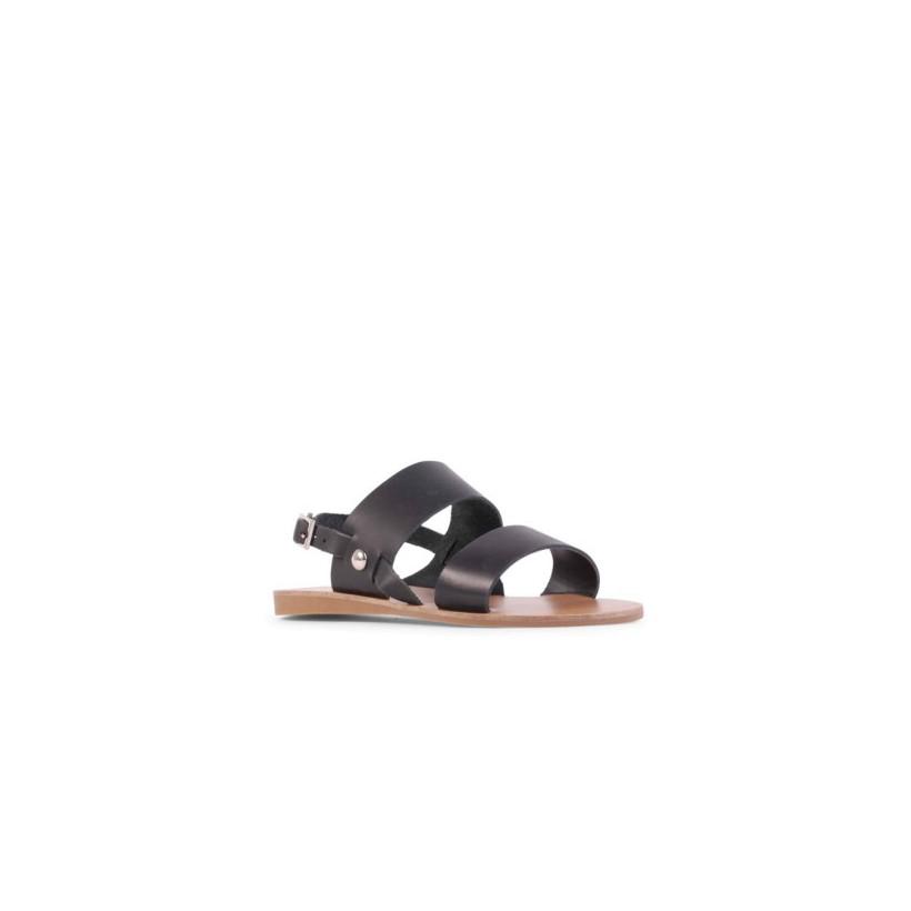 Becca II - Black Waxy Calf by Siren Shoes