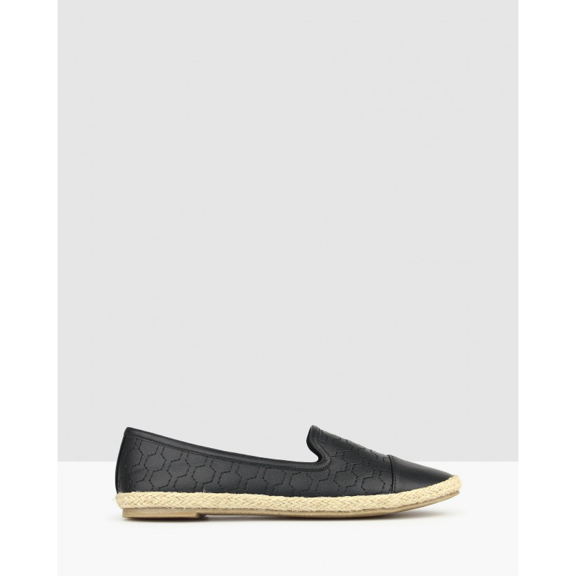 Bayview Embroidered Flats Black by Betts