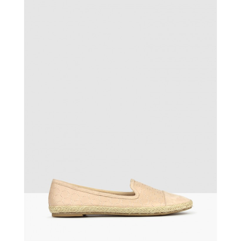 Bayview Embroidered Flats Nude by Betts