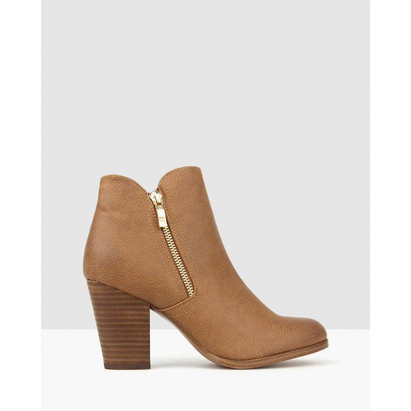 Ace Ankle Boots Cognac by Betts