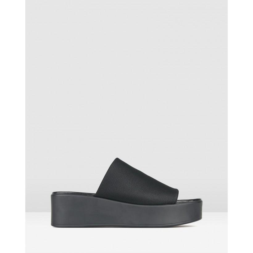 Steffi Slip-On Flatform Sandals Black by Betts