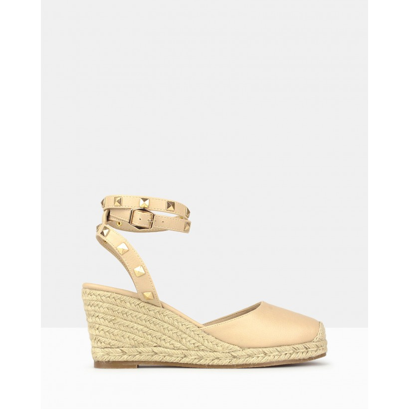 Summer Wedge Espadrilles Nude by Betts
