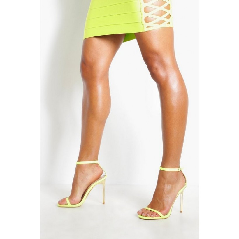 2 Part Interest Stiletto Heels in Lime