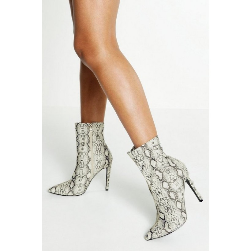 Reflective Snake Sock Boots in Grey
