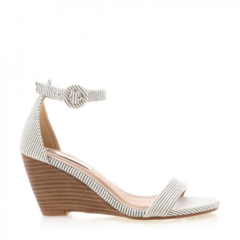 Agari Blk/Wht Stripe/Nat by Billini Shoes