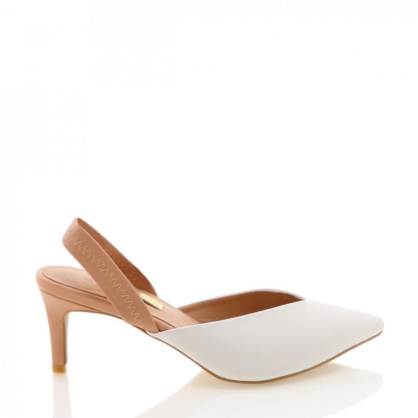 Amori White/Nude by Billini Shoes