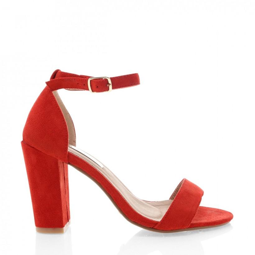 Aurella Red Suede by Billini Shoes