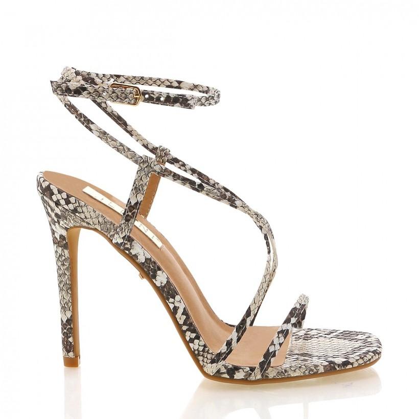 Bamba Cream Snake by Billini Shoes