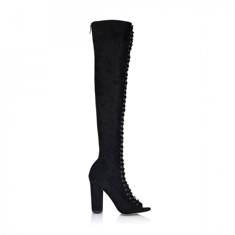 Bardot Black Suede by Billini Shoes