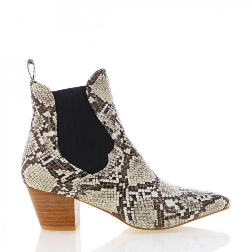 Basta Cream Snake by Billini Shoes