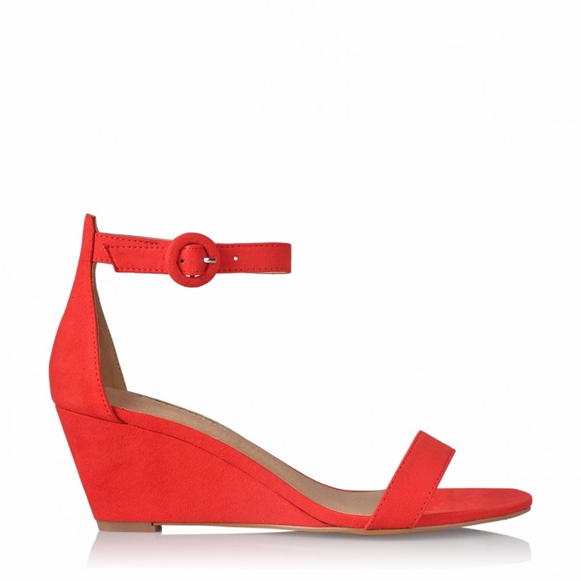 Andros Red Suede by Billini Shoes