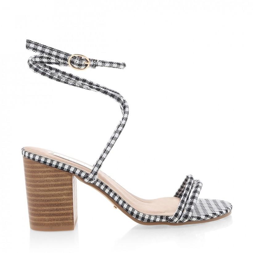 Calvi Black/White Gingham by Billini Shoes