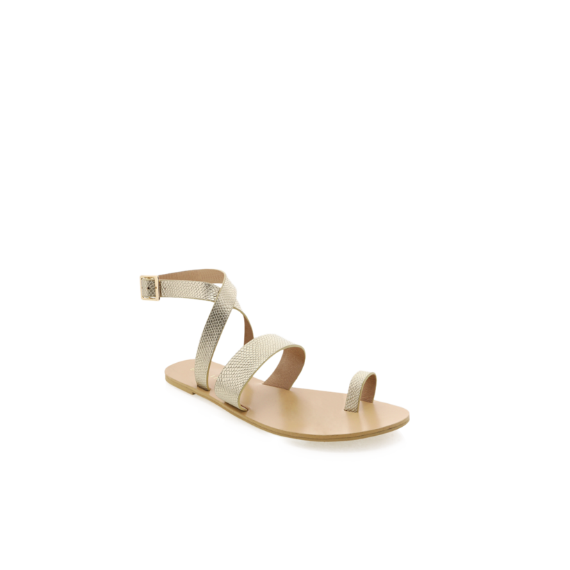 Cara - Light Gold Snake by Billini Shoes