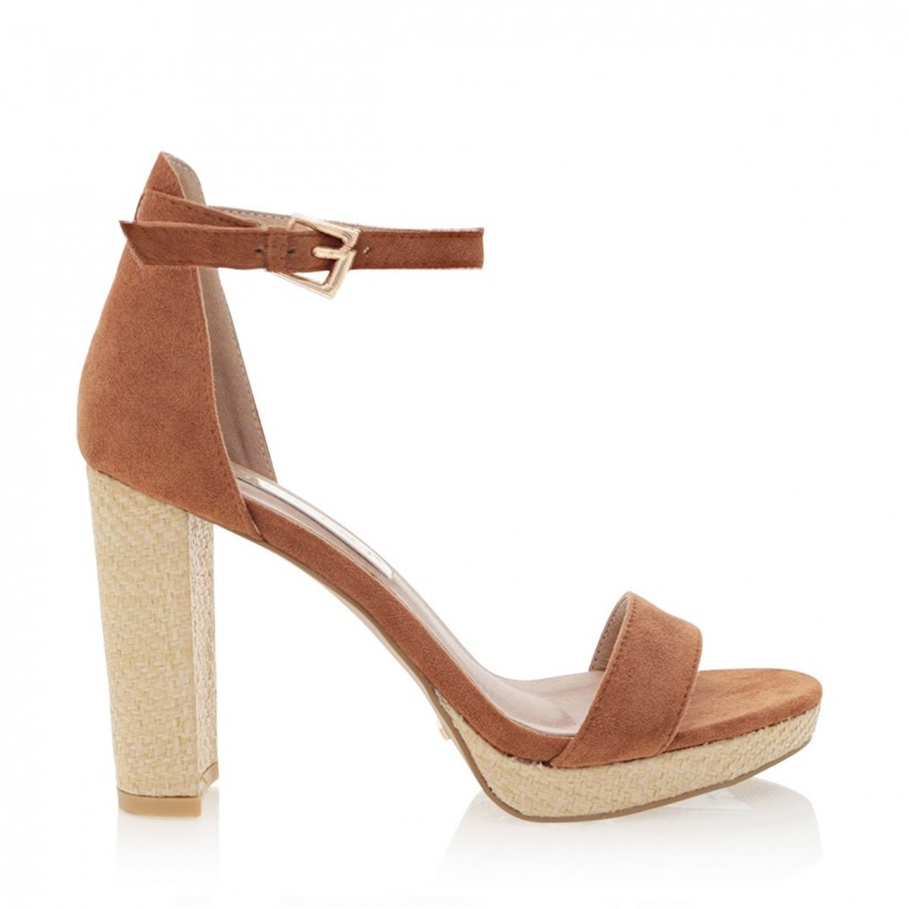 Catana Chestnut Suede by Billini Shoes
