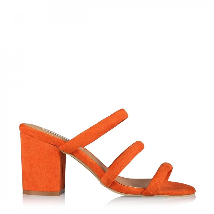 Cinzia Orange Suede by Billini Shoes
