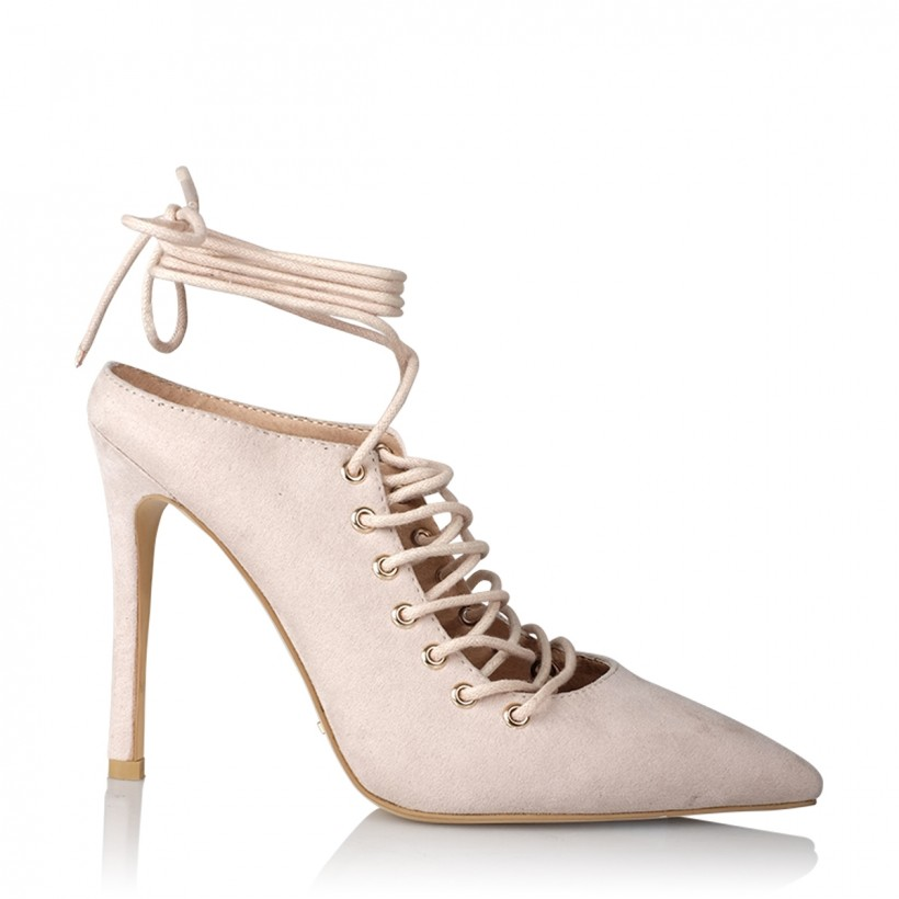 Lenita Nude Suede by Billini Shoes