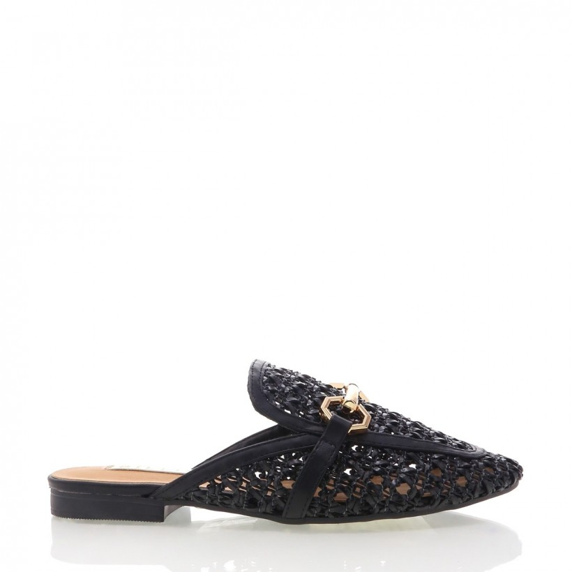 Odie Black Woven by Billini Shoes