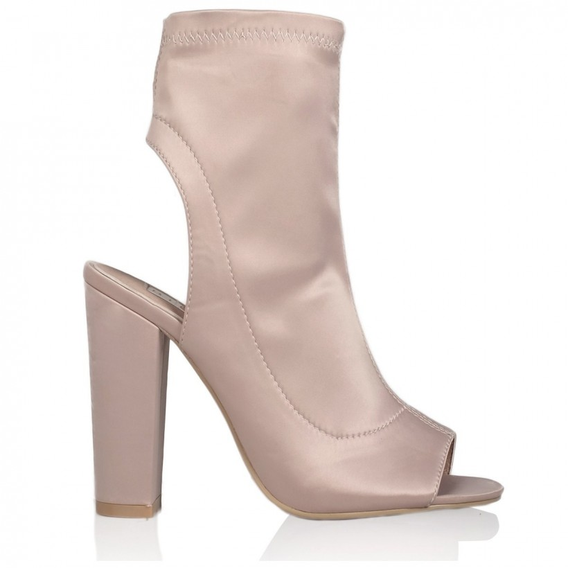 Sebastian Champagne Satin by Billini Shoes