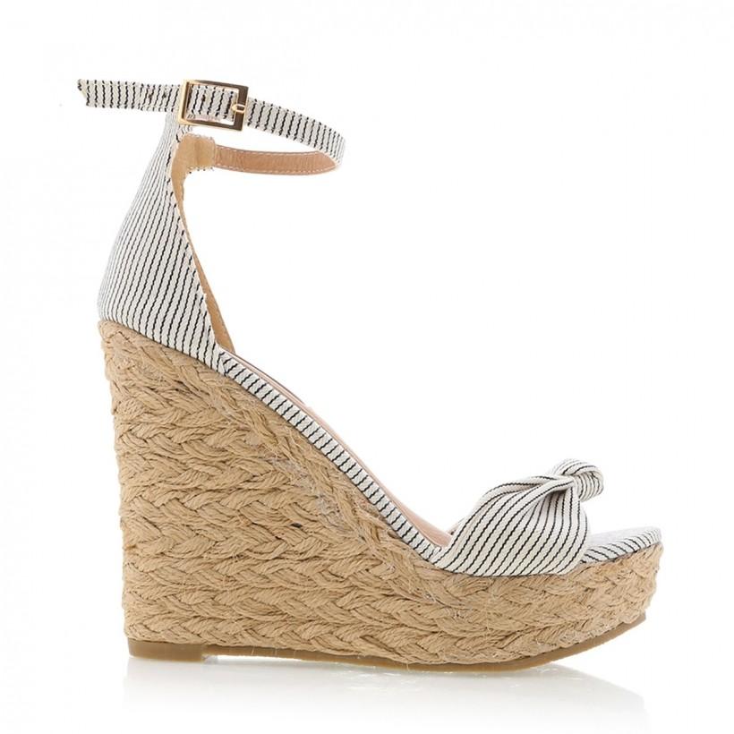 Skala Black/White Stripe by Billini Shoes