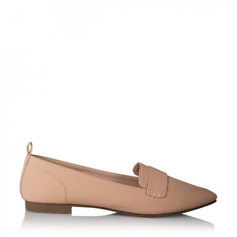Vinnie Nude Nubuck by Billini Shoes