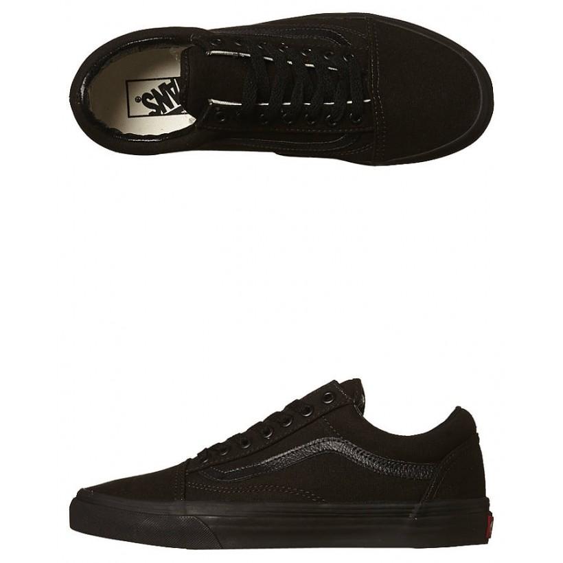Womens Old Skool Shoe Black Black By VANS