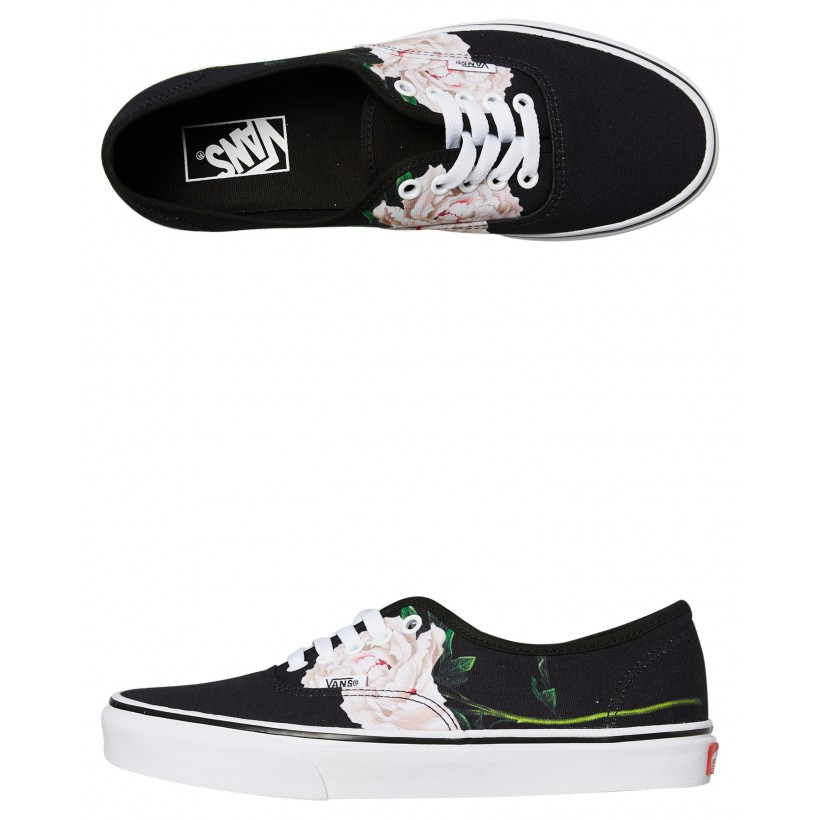 Womens Authentic Shoe Black Floral By VANS