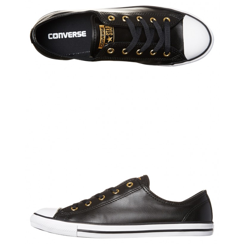 Black Gold Coloured Womens Chuck Taylor