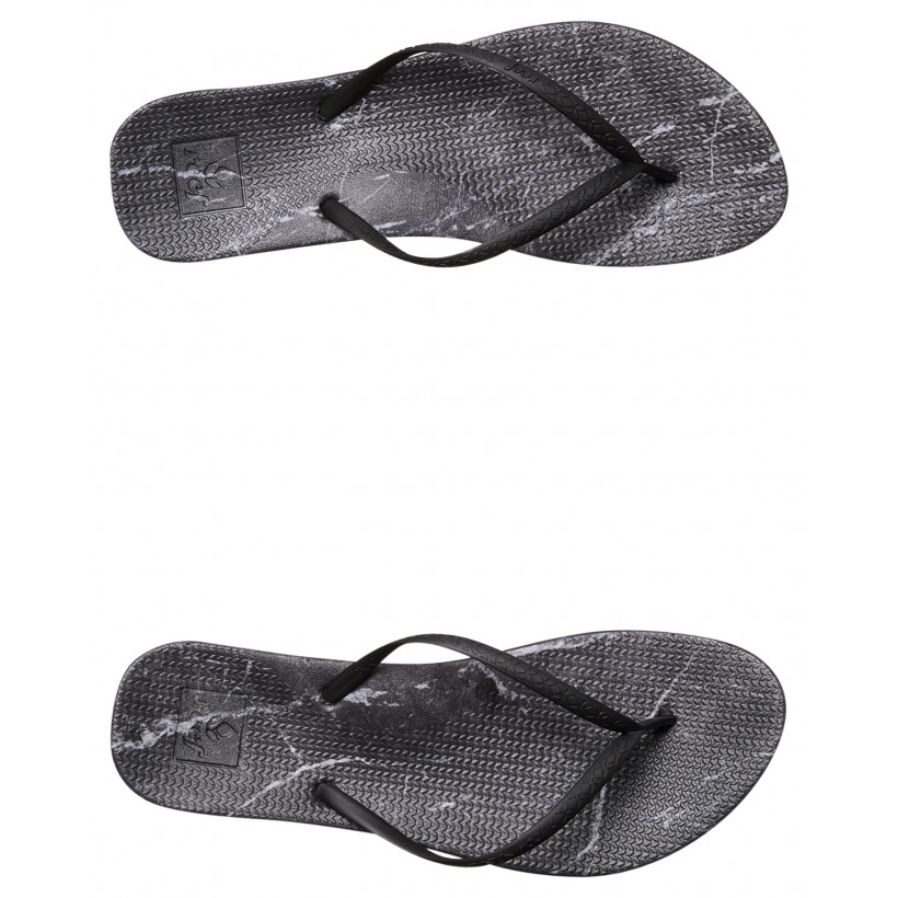 Womens Escape Lux Print Thong Black Marble By REEF