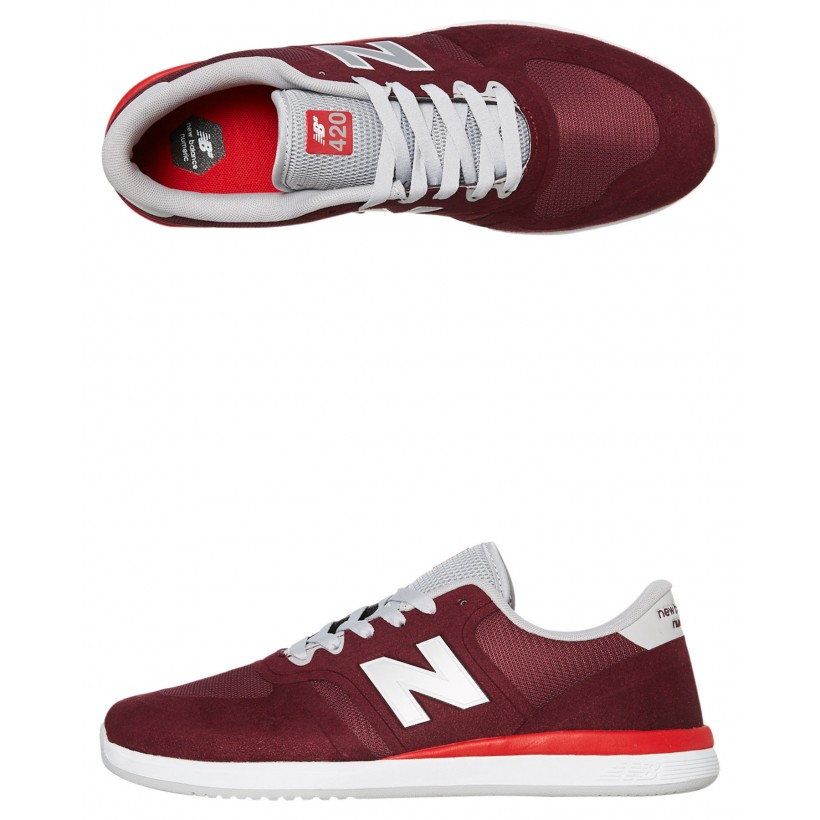 420 Mens Shoe Burgundy Red