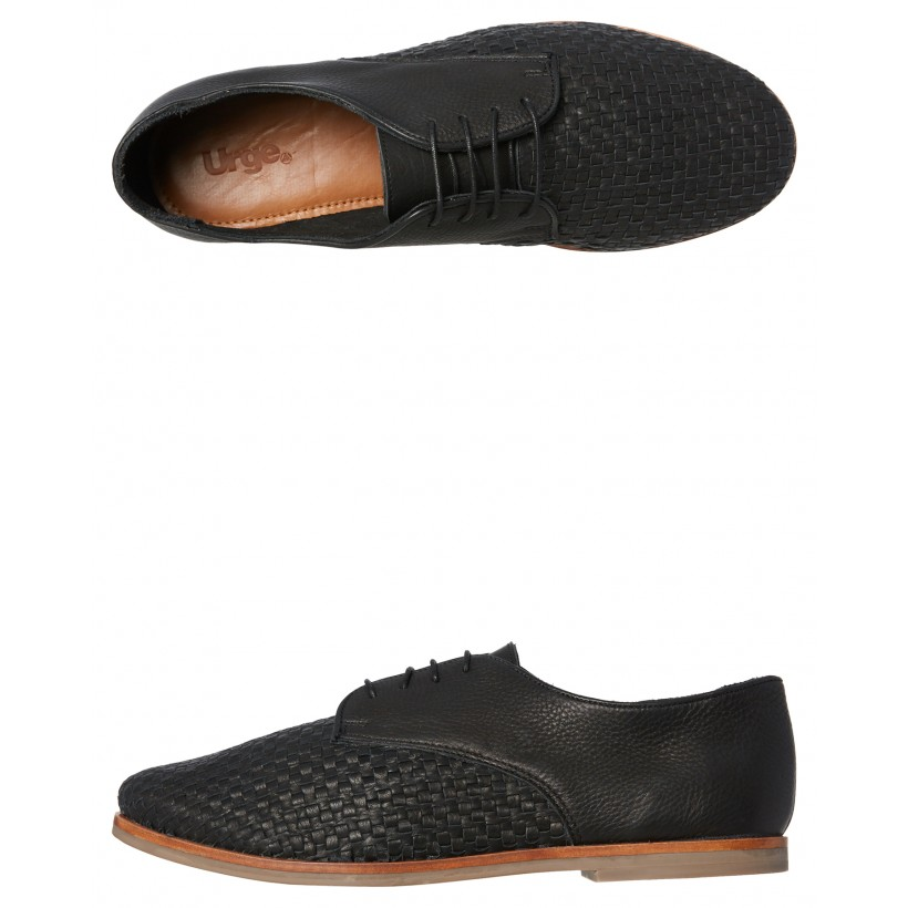 Dante Leather Shoe Black By URGE