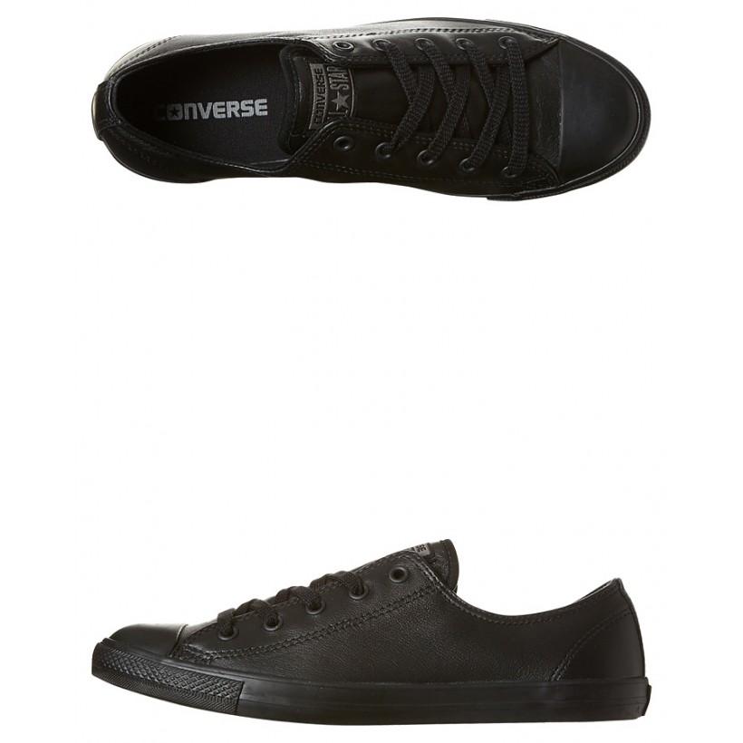 Star Dainty Leather Lo Shoe Black Mono