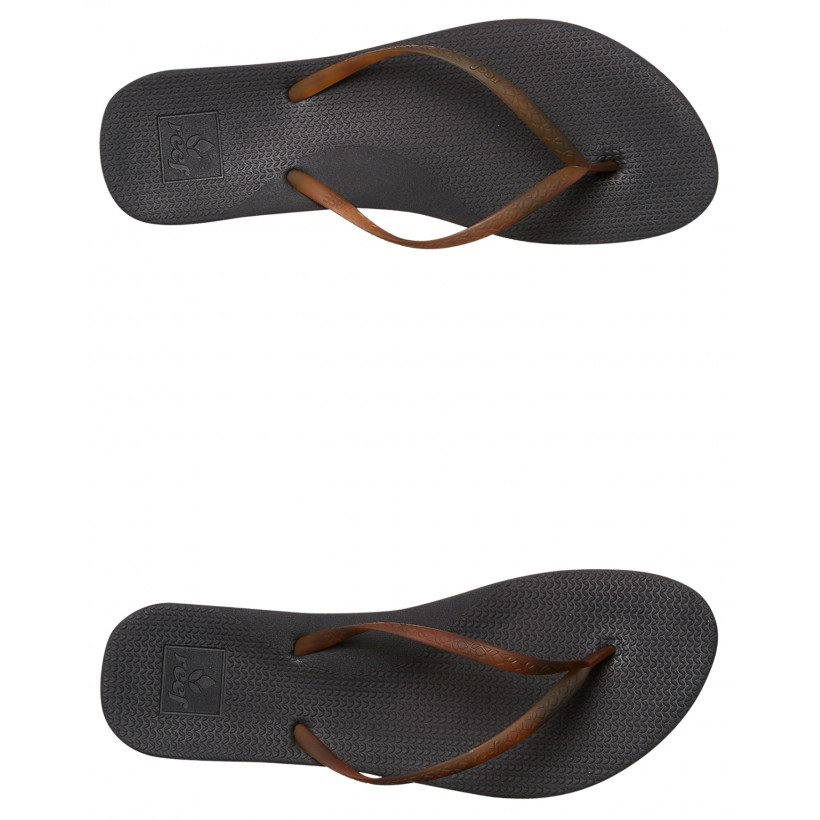 Womens Escape Lux Tortoise Thong Black Tortoise By REEF