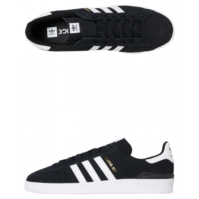Womens Campus Adv Shoe Black White By ADIDAS