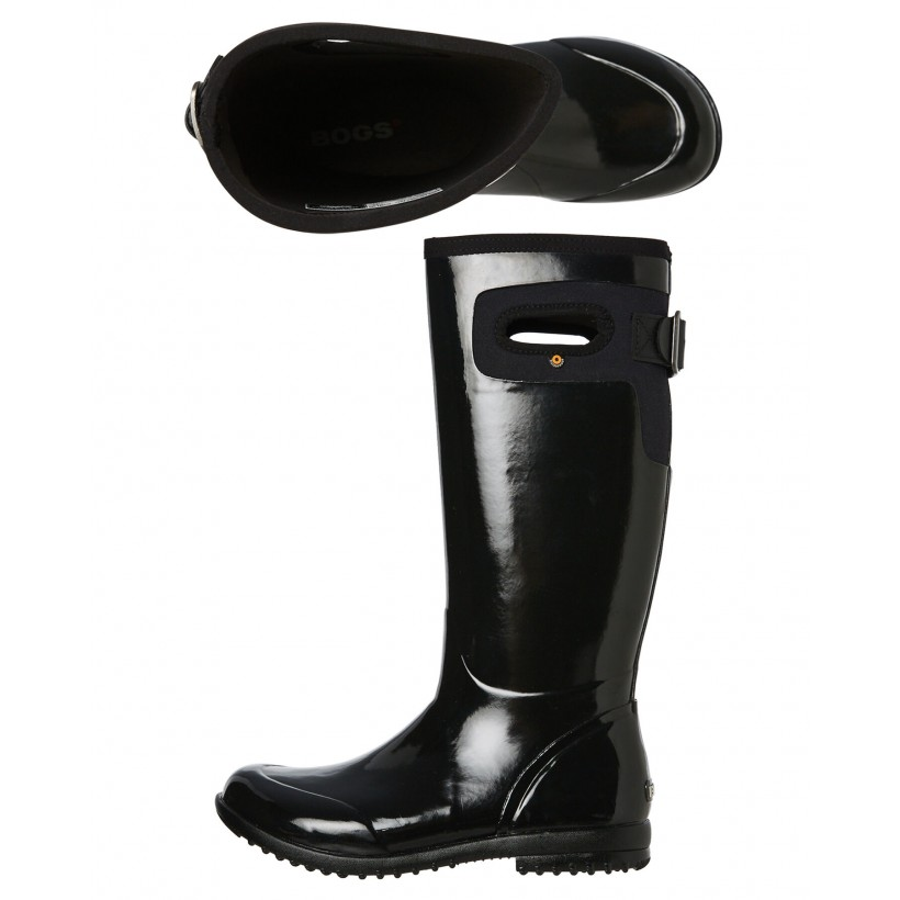 Womens Tacoma Solid Tall Boot Black