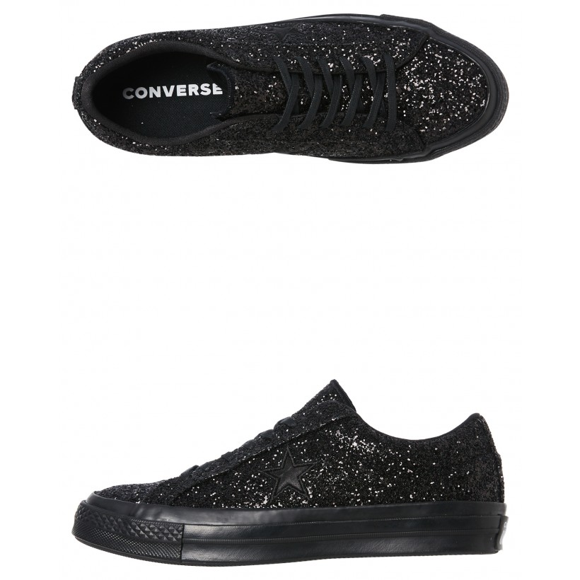 Womens One Star Ox Shoe Black By CONVERSE