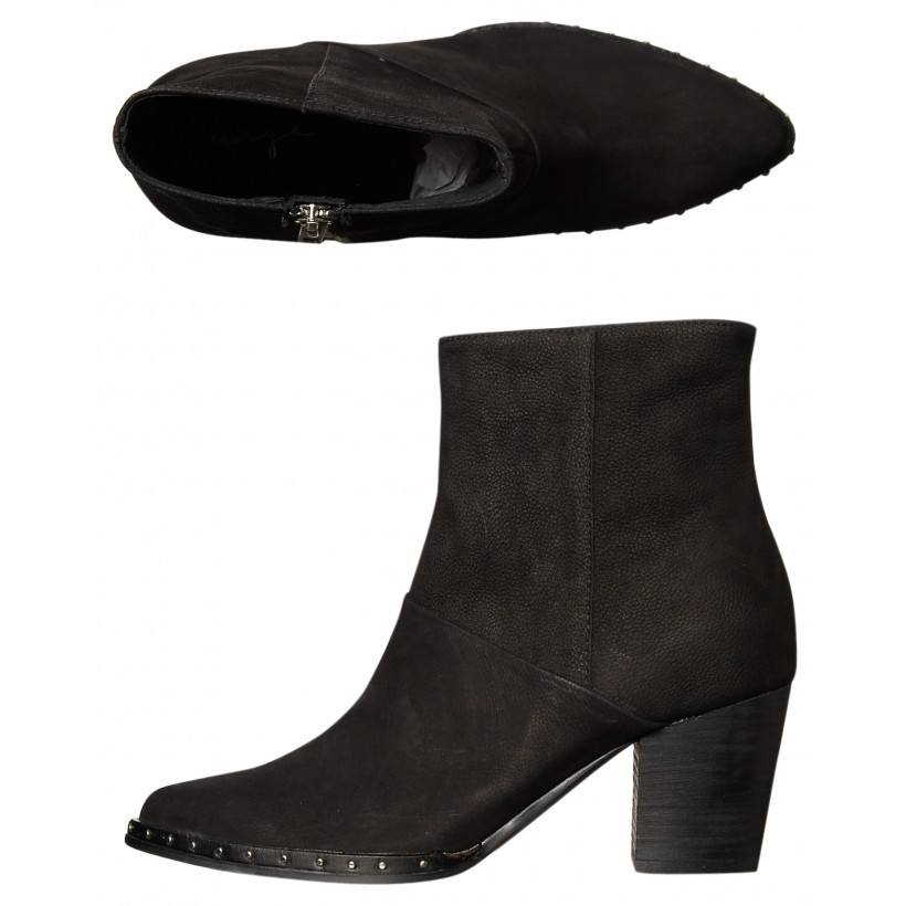 Womens Hope Suede Boot Black By URGE