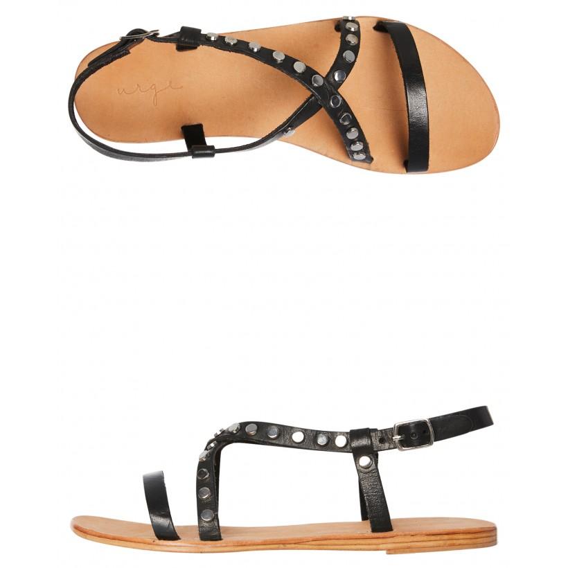 Sailor Leather Sandal Black By URGE