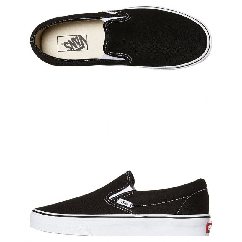 Womens Classic Slip On Shoe Black By VANS