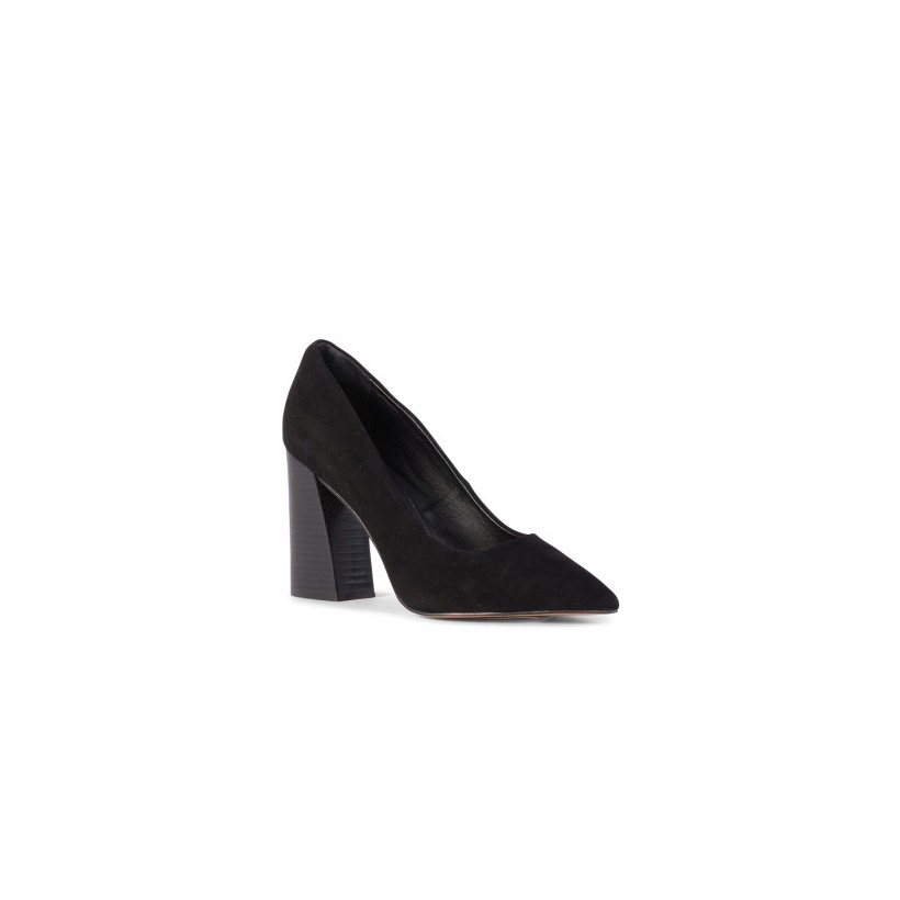 Boom - Black Kid Suede by Siren Shoes