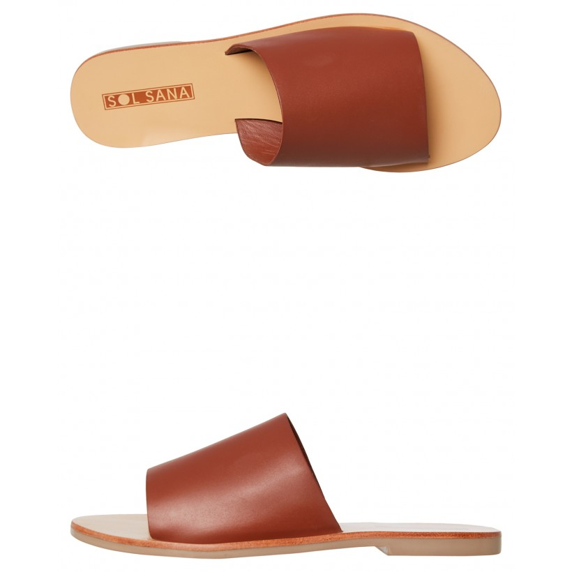 Womens Teresa Slide Burnt Tan By SOL SANA