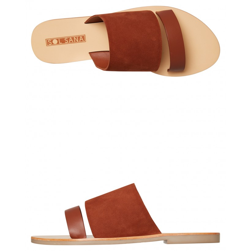 Womens Jobe Slide Burnt Tan By SOL SANA
