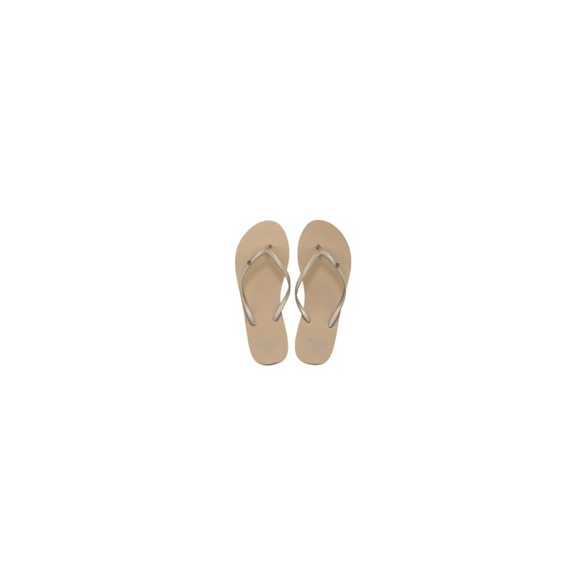 Bermuda Thongs in Gold Cream by Roxy
