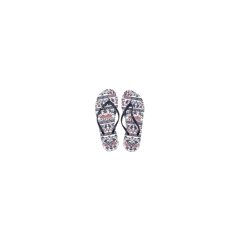 Bermuda Thongs in White Smooth by Roxy