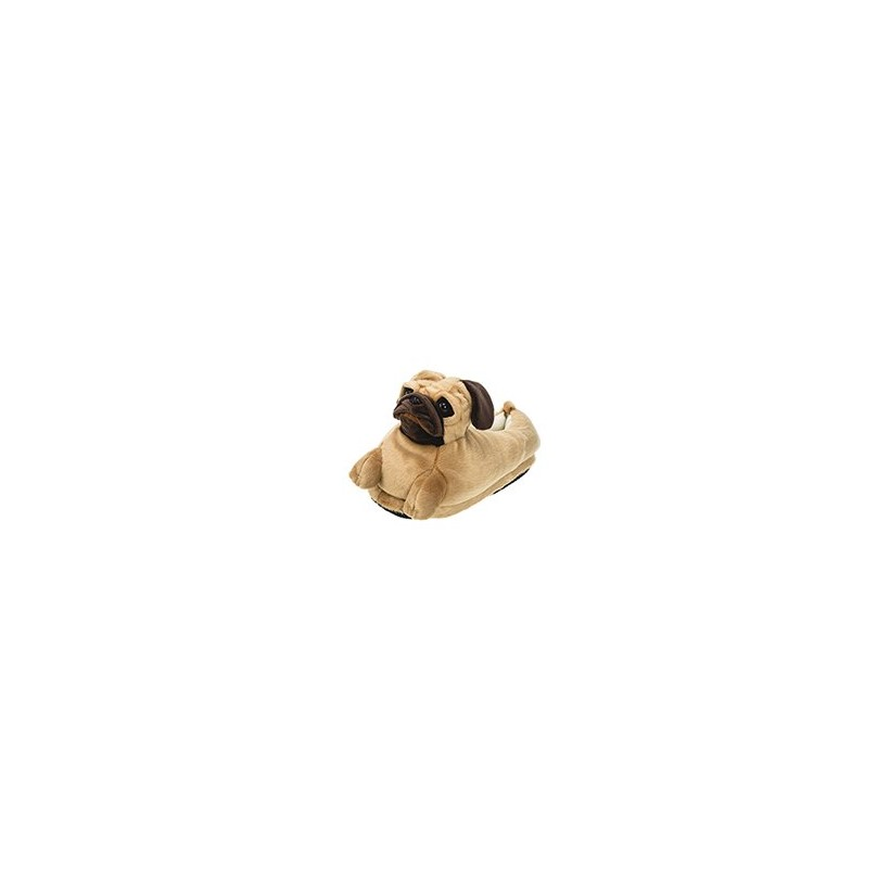 "PUG SLIPPER in ""Brown""  by GET IT NOW"
